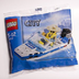 lego city mini figure police boat