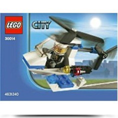 City Police Helicopter Mini Set 30014